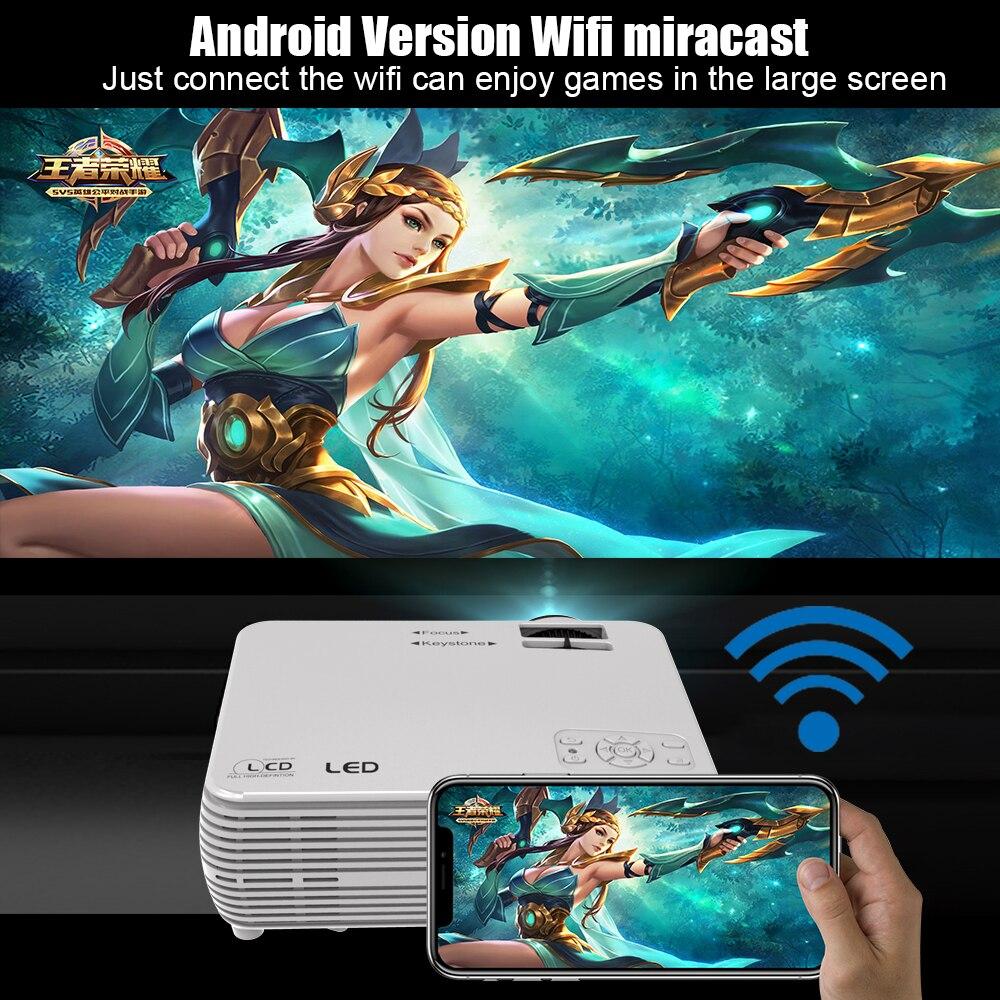 Puissant MINI projecteur X5 + 1280*720P Proyector 4K Full HD 2600 lumen WIFI Proyector Beamer Home Cinema en option Version Android - 5