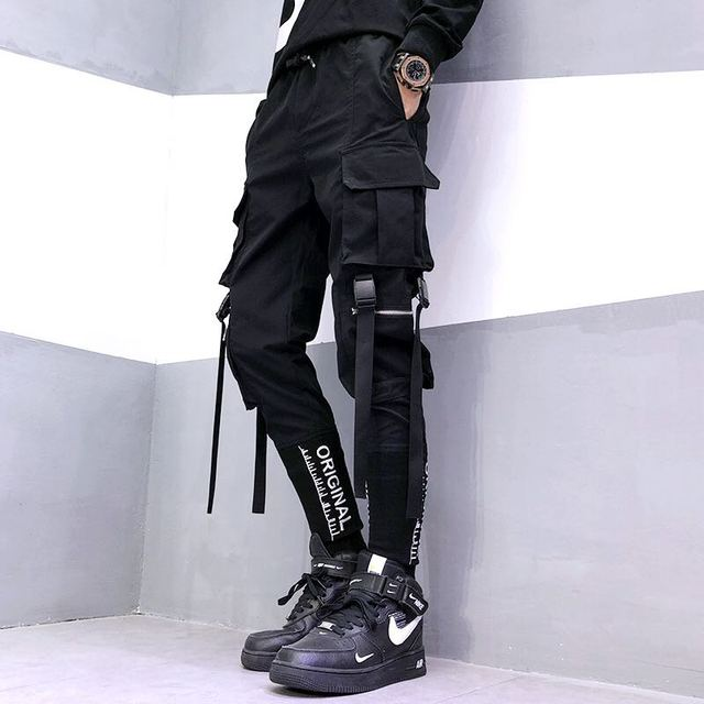 Hip Hop Cargo Ribbon Pants 8