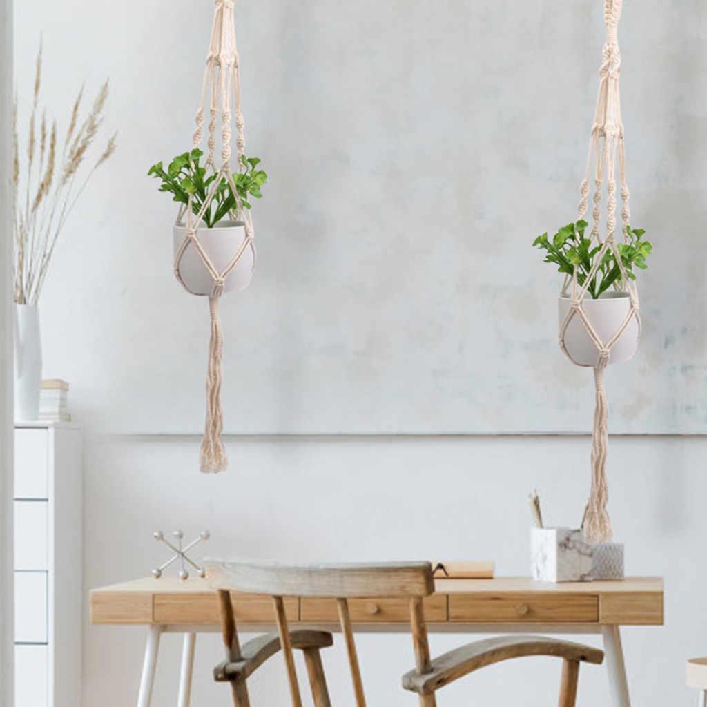 Colgador de macramé para planta colgante, cesta colgante, cuerda de yute Bohemia trenzada para decoración de plantas # BL3