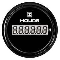 52mm Digital Hour Meters Waterproof Hourmeters Clock Gauges Time Gauges for Auto Boat Red Backlight 9 32V 316L Bezel