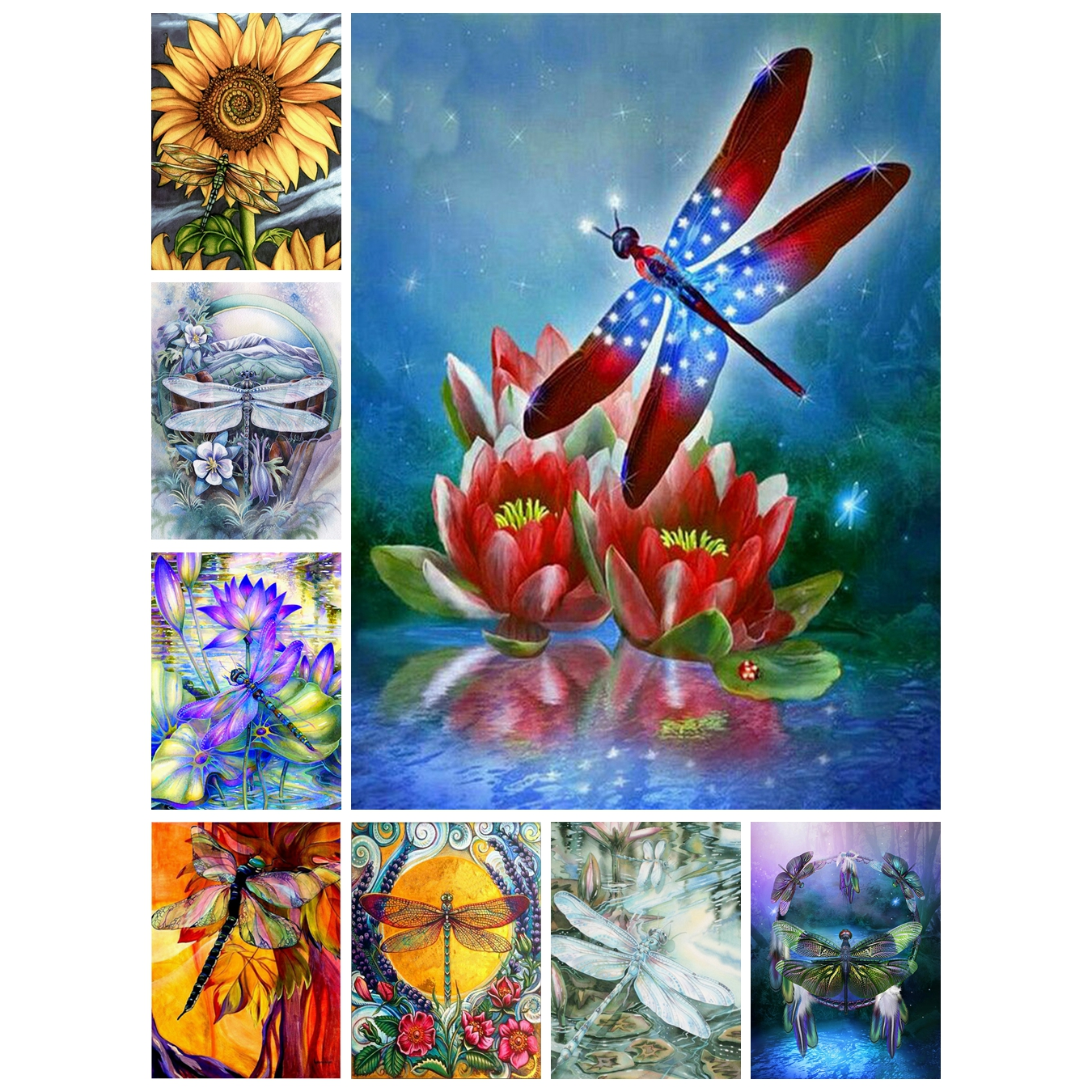 Dragonfly 5D Special Diamond Painting Kit Mosaic Embroidery for Home Decor