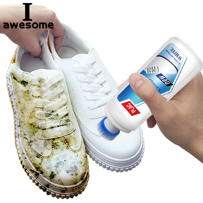 Iawesome White Shoes Cleaner Polish Cleaning Tool For Casual Leather Shoe Sneakers Shoe Brushes Spong Supplies Magic Refreshed