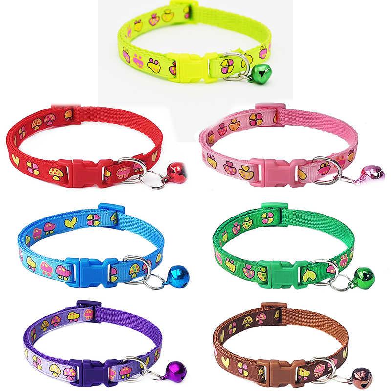 ラブリーキノコ犬の首輪小中犬子犬猫ペット襟基本的な鐘犬の首輪ペット製品用品 2020