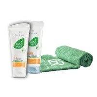 Aloe Vera Set Sandlot 2 Aloe Vera Lotion sunscreen SPF 30 + Aloe Vera Gel creamy After Sun + towel face LR