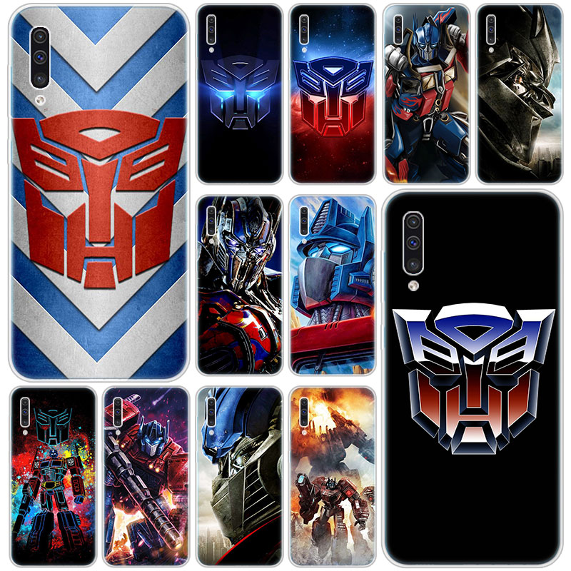 Hot Transformers Autobot Logo Silicone Case for Samsung Galaxy A90 5G A80 A70 A60 A50 A40 A30 A20 A10 S A10E A20E M10 M30S M40 image