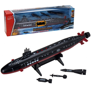 Navy Virginia Attack Nuclear Submarine Toy Ornaments Children Marine Military Static Model Submarine Toy