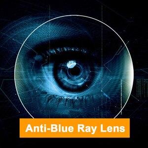 Image 5 - Lentille photochromique Anti lumière bleue pour hommes et femmes, lentille optique Anti lumière, Prescription, lentille de Correction de Vision pour appareils numériques gris lumière 1.61