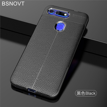 For Huawei Honor V20 Case Soft Silicone PU Leather Anti-knock Cover For Huawei Honor View 20 Case For Huawei Honor View 20 Funda защитное стекло mobius huawei honor view 10 синий