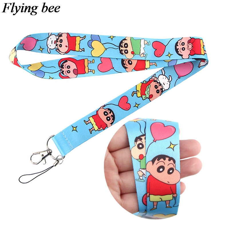 Flyingbee  Keychain Cartoon Cute Phone Lanyard Women Fashion Strap Neck Lanyards For ID Card Phone Keys X0647