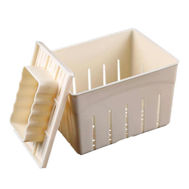 Plastic Tofu Press Mould DIY Tofu <font><b>Mold</b></font> Soybean Curd Tofu Making <font><b>Mold</b></font> <font><b>Cheese</b></font> <font><b>Molds</b></font> <font><b>Cheese</b></font> Cloth Kitchen Cooking Tools image