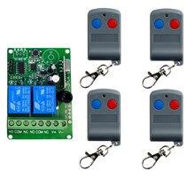 DC12V 2CH каналы 2 CH RF Беспроводная лампа, 315/433 MHz передатчик и приемник/Гаражные Двери/лампа