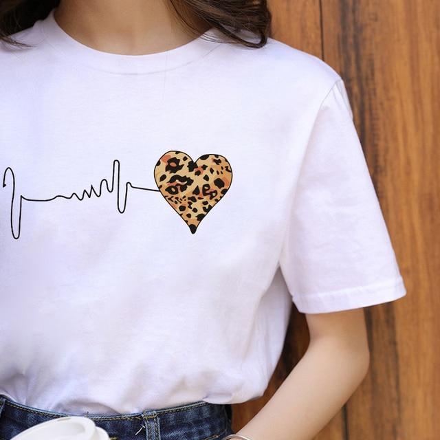 ZOGANKIN Summer Fashion Shirt Lips Leopard Graphic T Shirt Women Tops Base O-neckBlack Tees Kiss Leopard Lip Funny Girls Tshirt 6