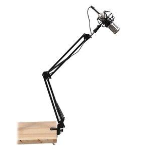 Image 2 - פרו שולחן העבודה מיקרופון מספריים זרוע מיקרופון Stand חיבור שולחן עבור שמשון כחול Yeti כדור שלג