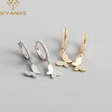 XIYANIKE – boucles d'oreilles papillon en argent Sterling 925, boucles d'oreilles en Zircon, breloque de mode, bijoux de luxe léger