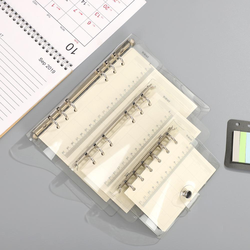 Skaidrus birių lapų segtuvas, laisvas dirželis, laisvas lapo - Bloknotai ir užrašų knygelės - Nuotrauka 5
