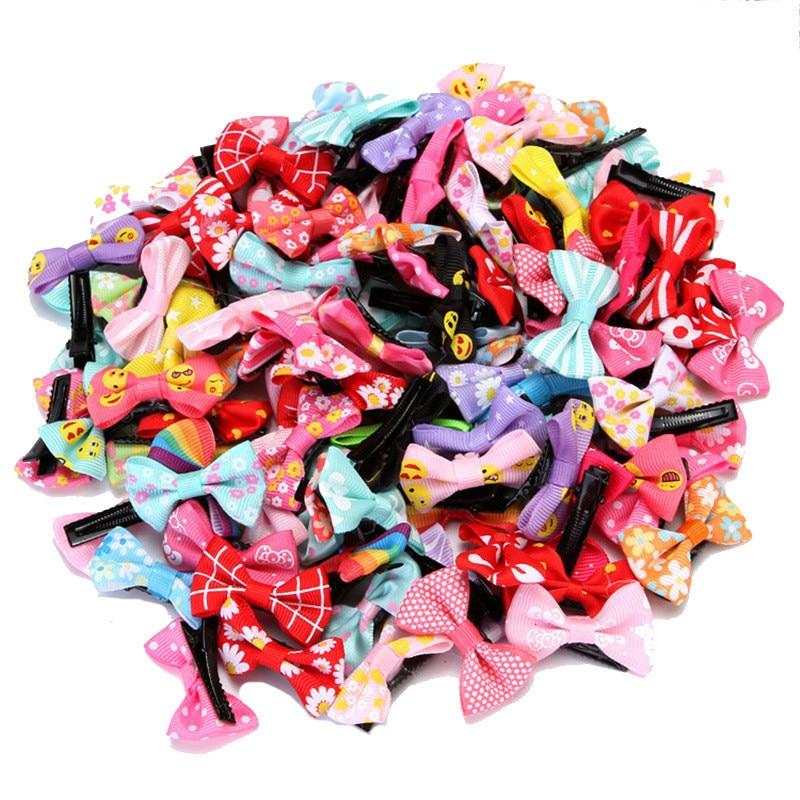 20 шт., оригинальные маленькие заколки с бантом для маленьких девочек, милые заколки для новорожденных, головные уборы, детские заколки для в...