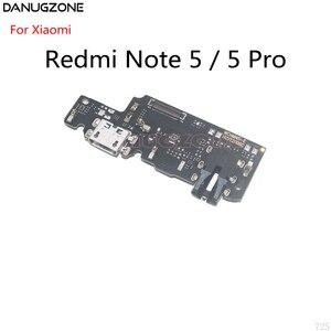 Image 1 - 10 pièces pour Xiaomi Redmi NOTE 5 PRO NOTE5 Port de quai USB connecteur de prise de Charge carte de Charge câble flexible avec prise Audio pour écouteurs