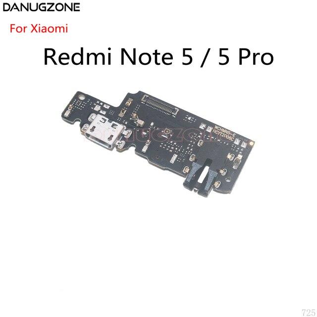 10 pièces pour Xiaomi Redmi NOTE 5 PRO NOTE5 Port de quai USB connecteur de prise de Charge carte de Charge câble flexible avec prise Audio pour écouteurs