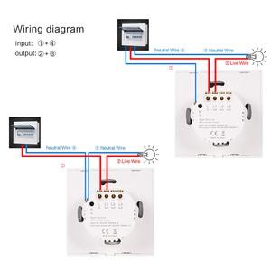 Image 5 - Interruptor de luz inteligente interruptor de parede sem fio interruptor de controle toque wifi compatível com alexa google assistente ifttt para android