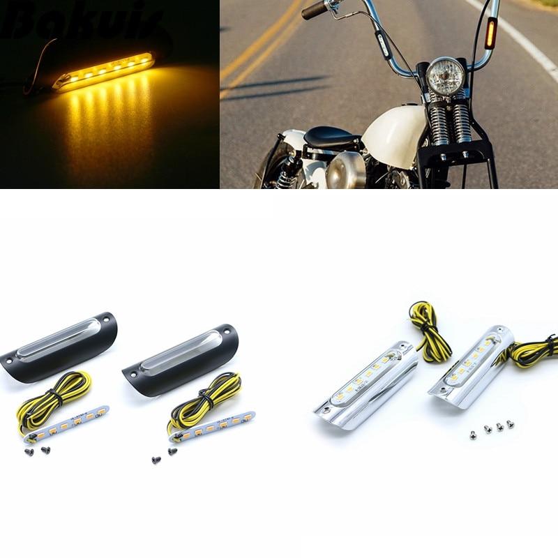 1 Para Motorrad Highway Bar Lichtschalter LED Fahrlicht Wei/ß Bernstein F/ür Harley Davidson Touring Motorrad Modelle Blinker Crash Bars Schwarz