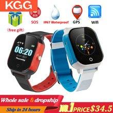 KGG KG23 스마트 어린이 시계 방수 아기 SIM 카드 터치 스크린 GPS 와이파이 SOS 트래커 키즈 알람 시계 Anti Lost Smartwatch