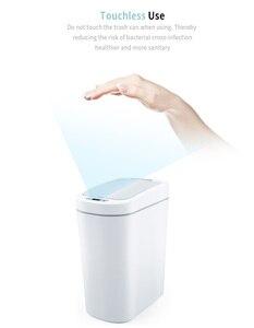Image 2 - Orijinal Youpin NINESTARS akıllı çöp tenekesi hareket sensörü otomatik sızdırmazlık LED indüksiyon kapağı ses 7L ev Ashcan kutuları moda