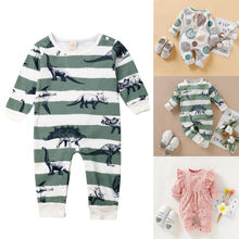 New Newborn Baby Boys Girls Romper Animal Printed Long Sleeve Spring Autumn Cotton Romper Kid Jumpsuit Playsuit Outfits Clothing цены