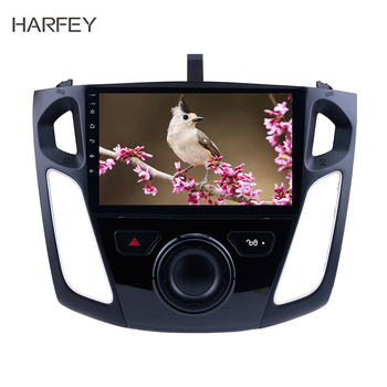 Harfey Android 8.1 GPS Navigation Radio for 2011 2012 2013 2014 2015 Ford Focus with Bluetooth WIFI 1080P USB Mirror Link OBD2 image