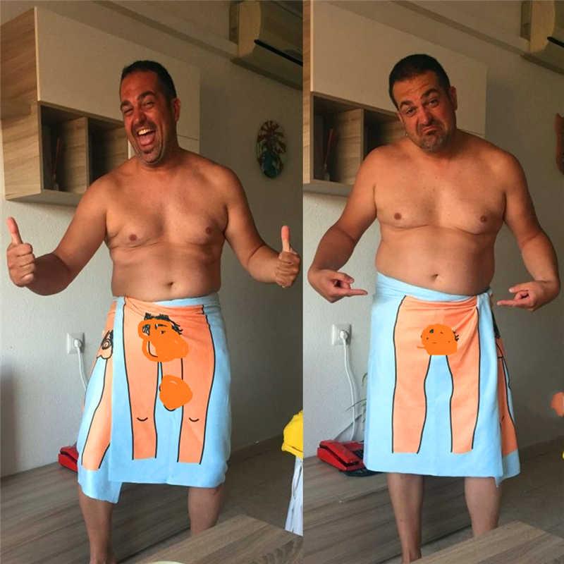 Hombre mujer adulto Sexy Kuso pija rayas patrón de secado rápido playa Toalla de baño adultos absorbente mágico hogar textiles toallas de baño