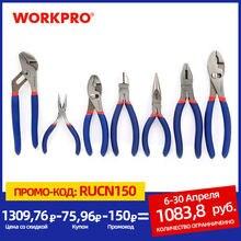 WORKPRO 7PC elektryk szczypce nóż do przewodów zestaw obcęg szczypce hydrauliczne szczypce półokrągłe