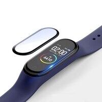 Cover 3D per Xiaomi mi band 4 5 6 Smart Watch pellicola protettiva per schermo in vetro temperato con rivestimento Nano completo Miband4/5/6 accessori