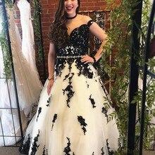 Vestidos de novia blancos y negros, cinturón de encaje de cristal de manga casquillo de cuello ilusión, vestidos de novia Retro Vintage de línea A, vestidos de novia no blancos