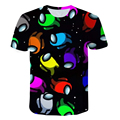 Short-Sleeved T-Shirts for Children Ages 4-14 Among Us Cartoon & Animation Boys & Girls Clothes Youth Fun Soccer Shirt