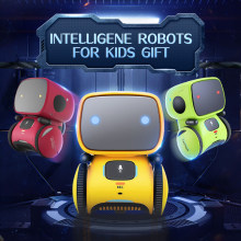 Toy Robot Intelligent Robots Russian&English Version Voice Control roboter Interactive Educational RC robotic for Christmas Gift(China)