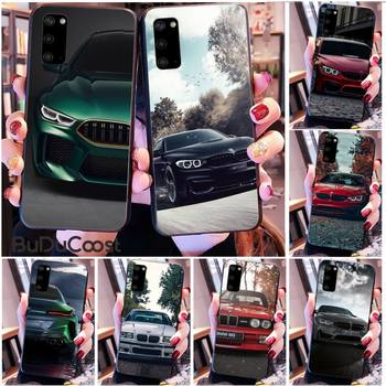 Diseny Blue Red Car For Bmw Phone Case for Samsung S20 plus Ultra S6 S7 edge S8 S9 plus S10 5G image