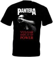Pantera Vulgar display Of power V3 футболка тяжелый металл черный все размеры S 3Xl Diy Prited футболка