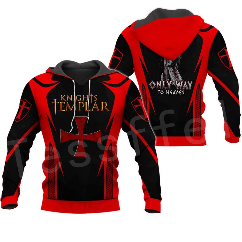 Tessffel Knights Templar Armor Pullover Streetwear Harajuku Pullover 3DfullPrint Zipper/Hoodie/Sweatshirt/Jacket/Mens Womens S14