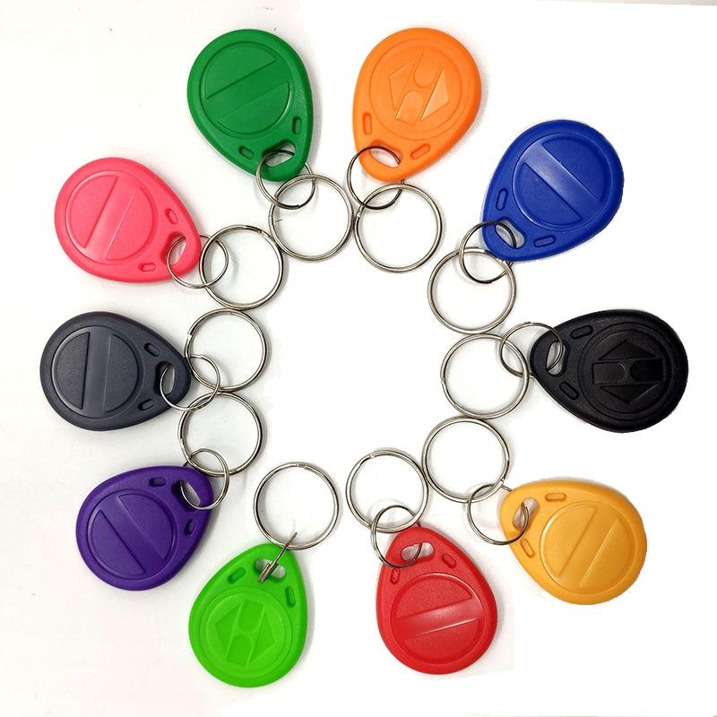 10pcs T5577 EM4305 125KHz Rewritable Writable Rewrite Keyfobs RFID Tag Copy 125KHz Card Proximity Token Key Ring Clone Access