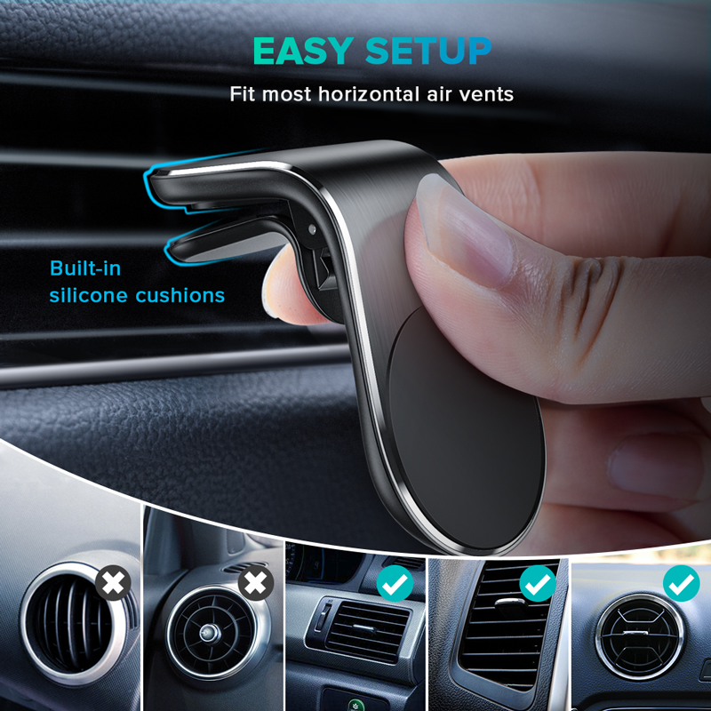 Magnetic Car Phone Holder Universal Car Air Vent Magnet Stand In Car For Iphone Magnetic Wall Holde Stand Universal Ring Holder