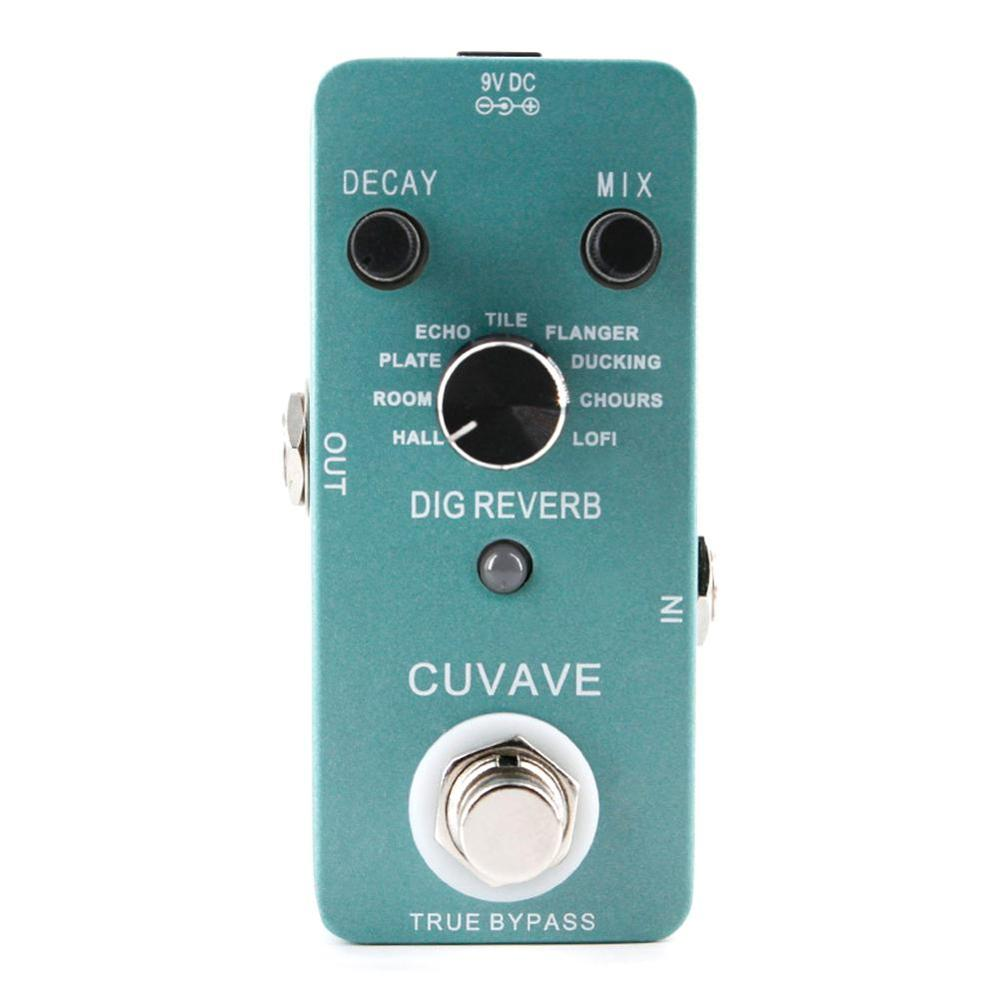 CUVAVE DIG Reverb Guitar Effect Pedal With 9 Reverb Types True Bypass Effects Stompbox