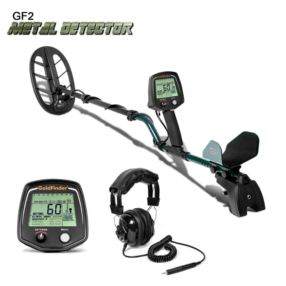 Professional Metro Metal Detector Gold Digger Treasure Hunter GF2 LCD Display Fone De Ouvido Ultra Sensibilidade do Detector de Fiação