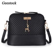 Female Handbag Crossbody-Bag Women Fashion Shell-Pattern PU with Deer-Decorations Geestock