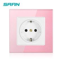 SRAN 16AEU стандартная розетка питания розовый/белый/светильник зеленый/девочка украшение дома настенная розетка