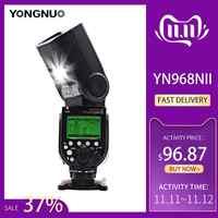YONGNUO YN968N II de Flash para Canon Nikon DSLR Compatible con YN622N YN560 Wireless TTL Speedlite 1/8000 con luz LED