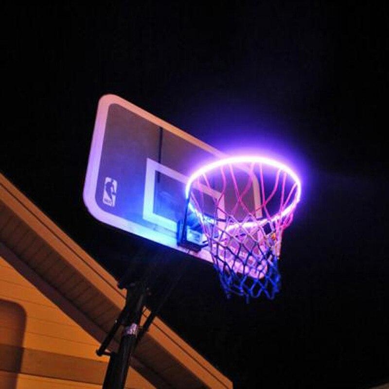 Basketball Rim LED Solar Light Playing At Night Light Boys Bedroom Home Decor WWO66