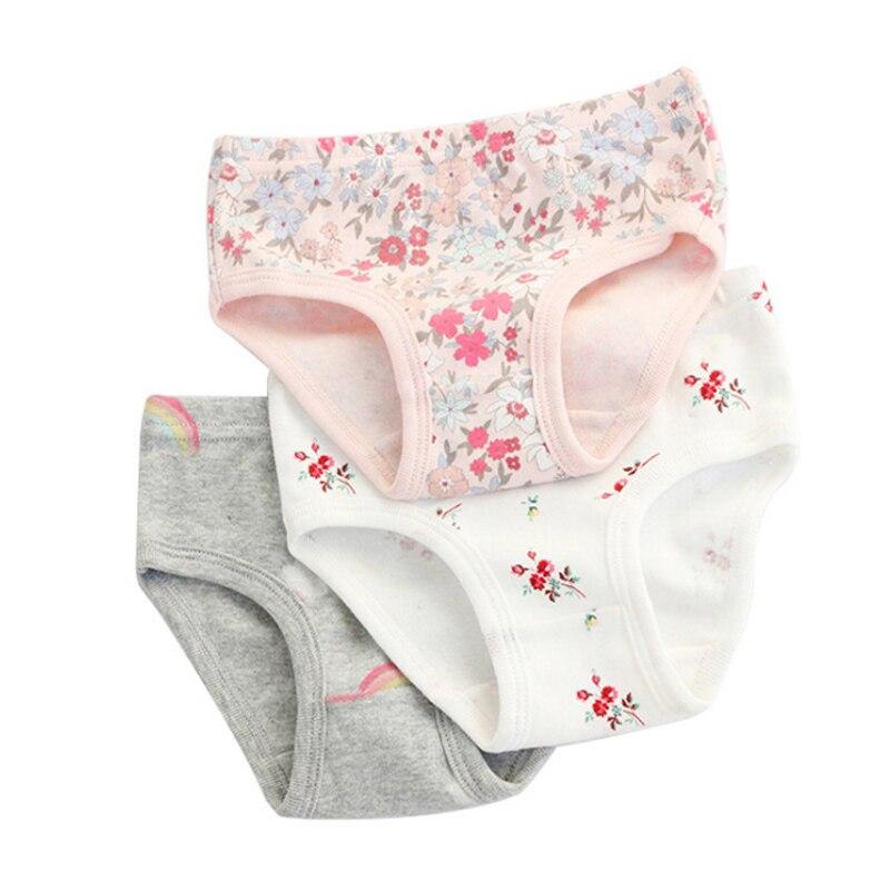 SheeCute 3 Pcs/lot Girl's Toddler & Kids Underwear 100% Cotton Soft Panties Baby Panties Kids Briefs