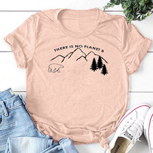 there is no planet tshirt graphic tees women gothic thanksgiving 2019 girl fashion aesthetic korean tops 90s letter casual