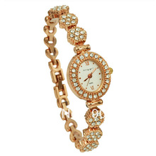 Brand King Girl Watches Luxury Rose Gold Women Crystal Diamond Quartz Ladies Fashion Wristwatch Oval Dial