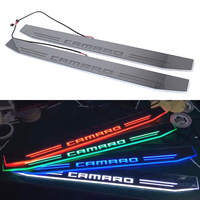 2x Chevrolet Camaro Dynamische Blauw/Rood/Wit/Groene Led Auto Deur Pedaal Licht Voor Rs Ss ZL1