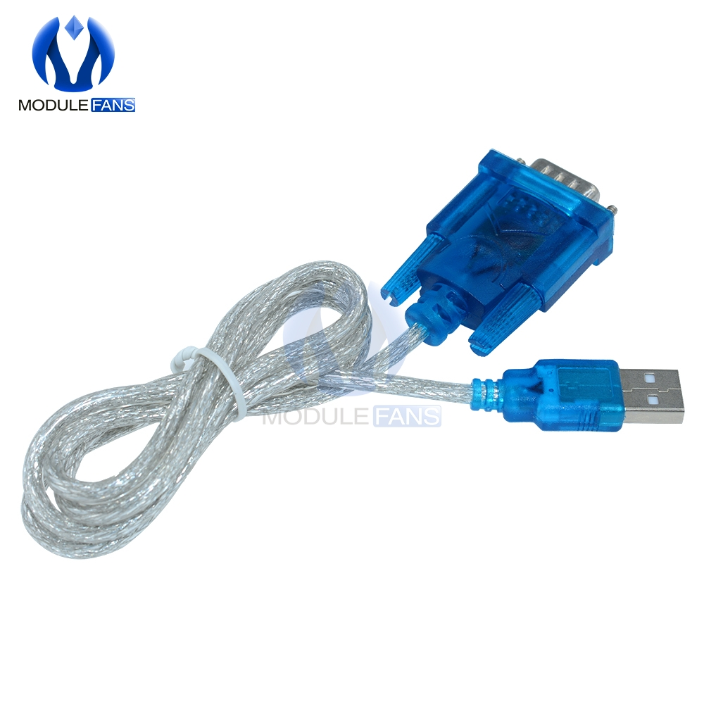 CH340 USB To RS232 COM Port Serial 9 Pin DB9 Cable Adapter Support Windows7 For PC PDA GPS Wholesale